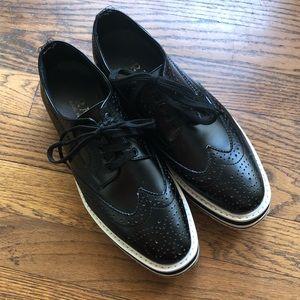 Prada Brogue Platform Derby Shoe